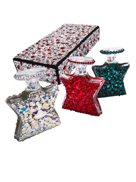 the new bond st swarovski velvet trio box